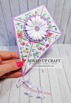 card making supplies Fun Kite Fold C - cardmaking Fancy Fold Cards, Folded Cards, Handmade Birthday Cards, Greeting Cards Handmade, Card Birthday, Sister Birthday, Birthday Gifts, Diy Birthday, Birthday Greetings