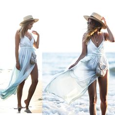 Get this look: http://lb.nu/look/8840691  More looks by Catherine V.: http://lb.nu/fashionardenter  Items in this look:  Asos Beach Dress, Bijou Brigitte Bag, H&M Hat   #bohemian #minimal #romantic #summer #beach #french