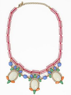 Springing Through Spring Necklace-lucite statement necklace, trendy pink necklace, trendy statement necklace, affordable trendy jewelry necklace, designer inspired fashion jewelry necklace