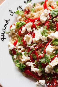salade quinoa poivrons rotis feta menthe coriandre-2