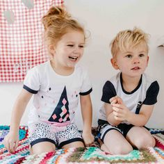 Sweet girls short sleeve and shorts pyjama set from Milky. Featuring a colourful geo print. Kids Pajamas, Pyjamas, Pjs, Pajama Shorts, Sweet Girls, Pajama Set, Your Child, Children, Color