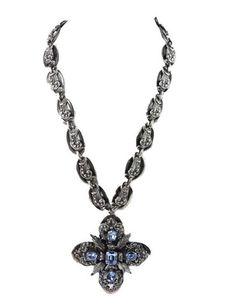 House of Lavande, Vintage Costume and Couture Jewelry | Shop Vintage Napier Silver Pendant Necklace | Palm Beach, Florida