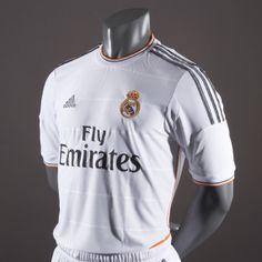 6600c45fa Football Shirts - adidas Real Madrid Home Replica Short Sleeve Jersey - Replica  Clothing - White-Lead-Light Orange