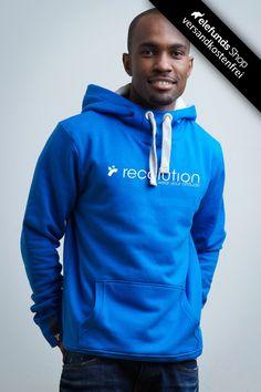 #Recolution - #Attitude - Männer Hoodie - blau - 79,90€ - 100% organic cotton and fairtrade - Versand kostenlos