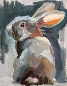 """Little Wendy"", Jo Hay, Oil on Canvas, x rabbit painting Painting Inspiration, Art Inspo, Lapin Art, Rabbit Art, Rabbit Drawing, Bunny Art, Painting & Drawing, Bunny Painting, Painting Fur"