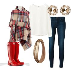 """Blanket Scarf & Wellies"" by xoxofash-ion on Polyvore"