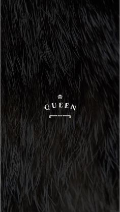 Black Faux Fur Pretty Positivity™ Queen iPhone Mobile Wallpaper by @EvaLand