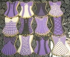 Bridal lingerie shower cookies