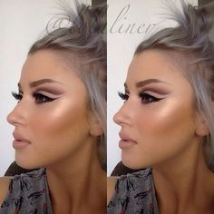 Soulful Charm - Cut Crease Eyeshadow Techniques That Are All Kinds of Chic - Photos Gorgeous Makeup, Pretty Makeup, Love Makeup, Makeup Looks, Bad Makeup, Flawless Makeup, Makeup Eyes, Beauty Make-up, Beauty Hacks