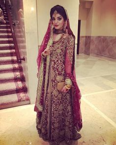Nada Raja in beautiful red èlan dress so pretty! | pakistani brides |
