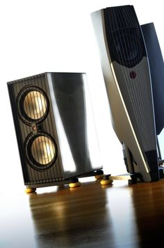 """Custom made High End HiFi speaker """"SAIL"""" and """"BRICK"""" subwoofer / Designed by A. Fiol - Germany"""