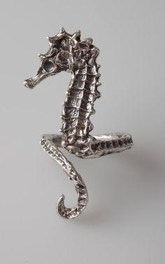 anello del cavallo di mare di artformsinnature su Etsy