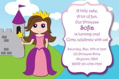 Beautiful Princess Custom Birthday Party Invitations by HeathersCreations11