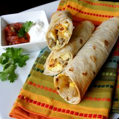 Sausage, Egg and Cheese Breakfast Flautas