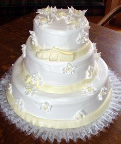 #wedding #cake #white