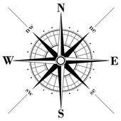 Kompassrose — Stockvektor