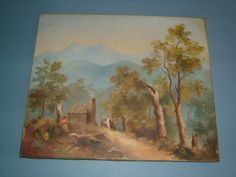Victorian Gouache on Canvas Nr New Zealand Sound by BiminiCricket, $250.00