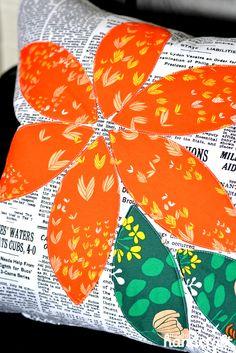 Modern Handcraft // Orange Blossom Pillow