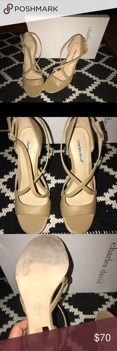 "Charles David ""Carmen"" heel Brand new, never worn Charles David ""Carmen"" almond-leather 👠 open to offers😊 Charles David Shoes Heels"