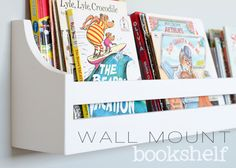 Wall Hanging Bookshelves cute idea for the kids rooms! i love to read and want my children