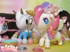 Tokidoki Unicorno Series 4 custom Sherbet Princess Repaint!! by Dollightful