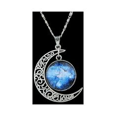 Artificial Gem Moon Round Pendant Necklace ($2.86) ❤ liked on Polyvore featuring jewelry, necklaces, artificial jewellery, artificial necklace, round pendant necklace, gemstone jewelry and imitation jewelry