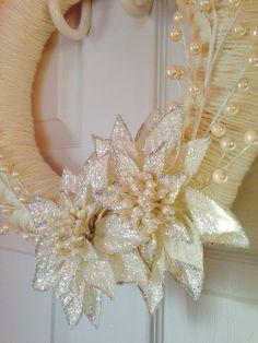 Snow Flower Winterberry Yarn Wrapped Straw by HuntingtonLove, $35.00