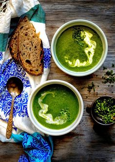 Wild Greens and Sardines : Hello Spring: Nettle, Ramp, and Leek Soup