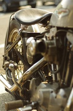 Bobber Inspiration | Ironhead bobber detail | Bobbers and Custom Motorcycles