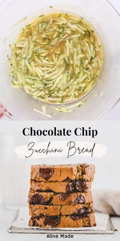 Probably one of the best healthy chocolate chip zucchini bread recipes ever! And it's so damn easy to make! #zucchini #bread #recipes #chocolatechip #healthy