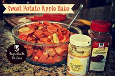 When I'm in the mood for something sweet, I love throwing together this quick and easy Sweet Potato Apple bake!