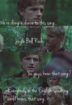 D12 is doing a dance to Jingle Bell Rock... {Mean Girls of Panem}