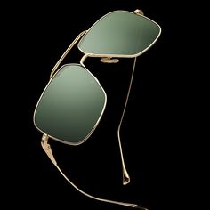 16dcbc327e9 Newest addition to the Flight series - Flight 005 in gold with vintage  green lens and black flash. Lifestyle   TRENDZZZ · Classy Sunglasses For Men