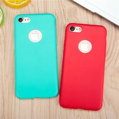 Candy colors Soft TPU Silicon Phone Case For iPhone 7 Cases For iPhone 7 7Plus 6 6s Plus 5 SE back Cover Coque with logo window #clothing,#shoes,#jewelry,#women,#men,#hats,#watches,#belts,#fashion,#style
