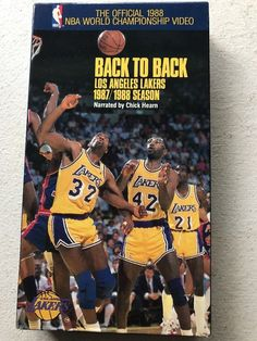 1987 1988 NBA World Championship Video BACK TO BACK Los Angeles LAKERS  Scenes 1b1139d53