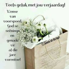 Best Birthday Wishes Quotes, Cute Birthday Wishes, Birthday Wishes Greetings, Happy Birthday Pictures, Happy Birthday Quotes, Birthday Fun, Birthday Cards, Afrikaanse Quotes, Guys And Dolls