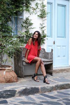 JUNESIXTYFIVE - Robe rouge tenue du soir