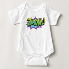 Comic Zoom! Baby Bodysuit - baby shower ideas party babies newborn gifts
