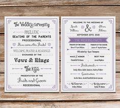 free printable vintage inspired diy wedding program fan mountainmodernlife.com