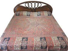 Pashmina Blanket Throw Orange Beige Black Kashmir Pashmina Bedspreads by Mogul Interior, http://www.amazon.com/dp/B00ECOLT8M/ref=cm_sw_r_pi_dp_m-.isb1GRZ26P