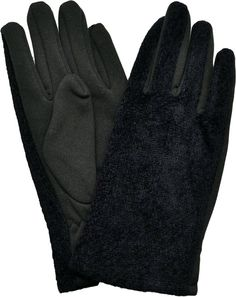 Charter Club Gloves, Chenille Tweed Black Gloves One Size
