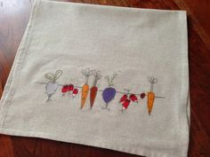 Root Vegetables Hand Towel. root veggies on a muslin hand towel. need i say more?