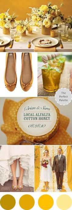 {Wedding Colors I Love}: Shades of Mustard! http://www.theperfectpalette.com/2012/09/wedding-colors-i-love-mustard.html