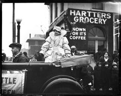"Christmas Parade 1929. Genevieve Buckles ""Little Queen"". Courtesy of the State Journal-Register. Click photo for article"