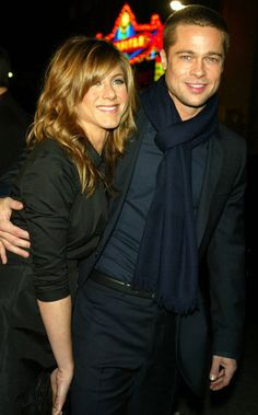 Jennifer and then-husband Brad Pitt cozied up at the premiere of Along Came Polly in 2004.