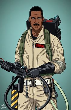 Winston Zeddemore [Ghostbuster] (E-27) commission by phil-cho on DeviantArt