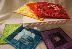 quilted potholders by sonnetofthemoon, via Flickr