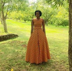 simple shweshwe dresses outfits 2017 - style you 7 South African Dresses, South African Traditional Dresses, Traditional Dresses Designs, African Dresses For Kids, African Print Dresses, African Print Fashion, African Attire, African Wear, African Fashion Dresses