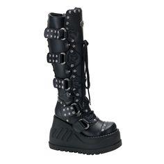 STOMP-313 Wedge Platform Boots via sinistersoles.com