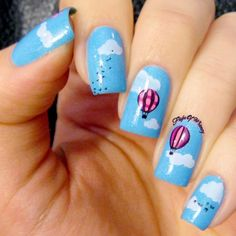Summer Sky Crazy Nail Art, Crazy Nails, My Nails, Air Balloon, Balloons, Sinful Colors, Summer Sky, Bright Pink, Nail Stuff